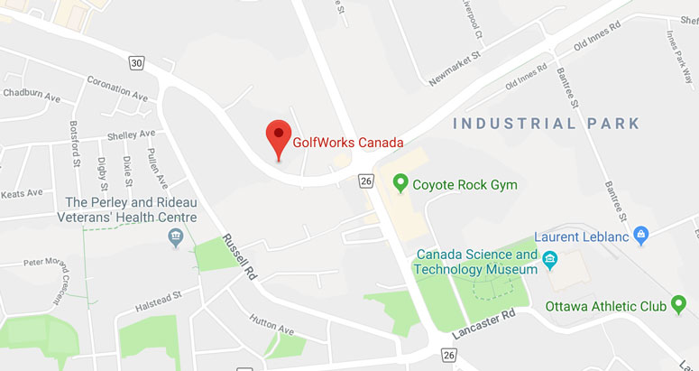 GolfWorks Canada Map