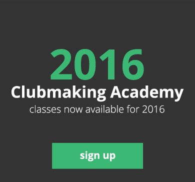 2016 Clubmaking Academy - classes now available for 2016