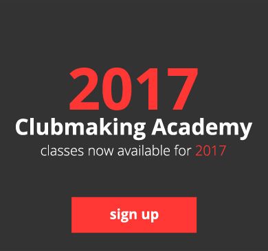 2017 Clubmaking Academy - classes now available for 2017