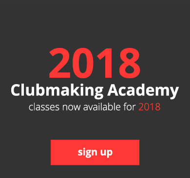 2018 Clubmaking Academy - classes now available for 2018