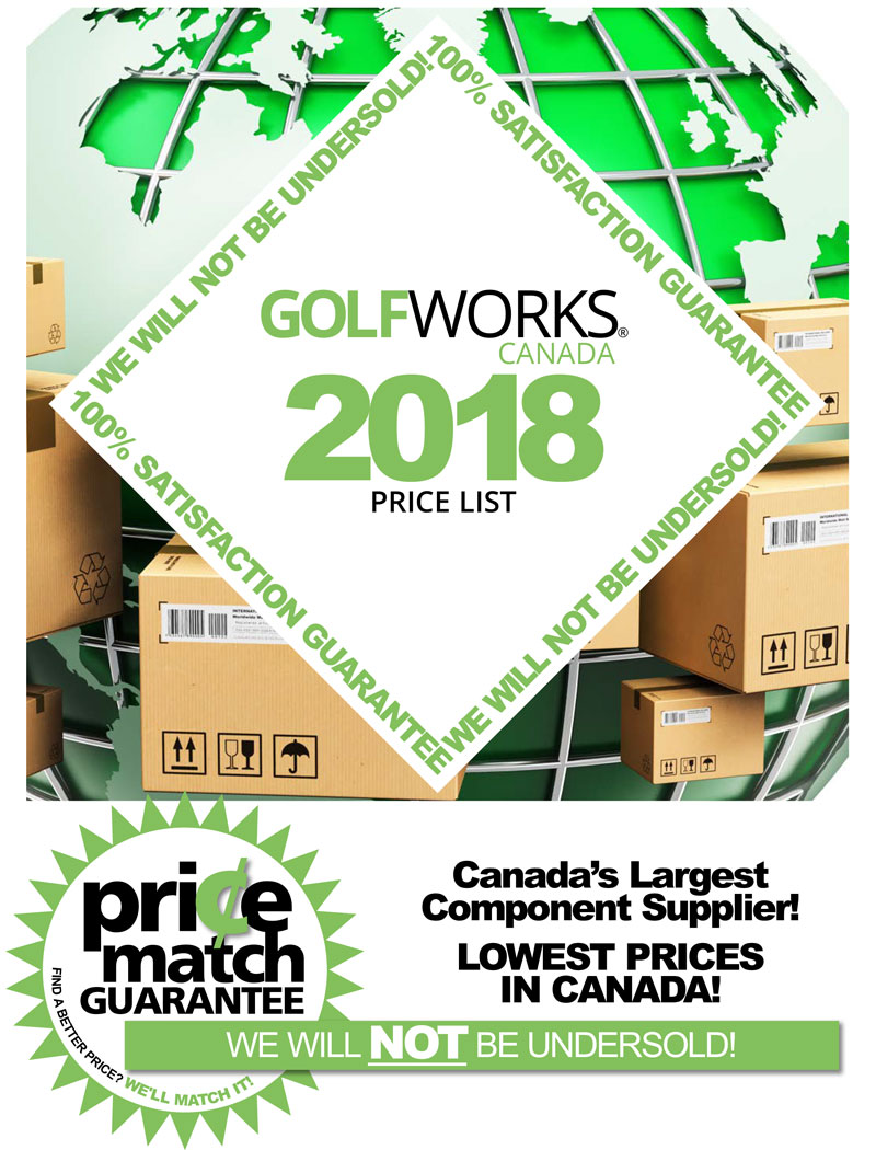 GolfWorks Canada Price List 2018